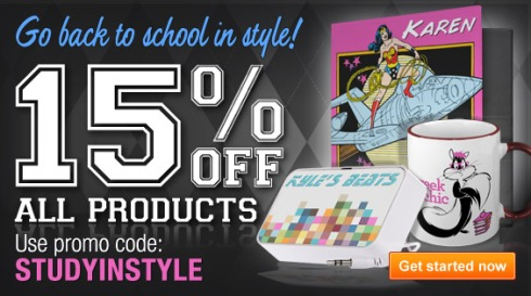 Zazzle Back to School Sale